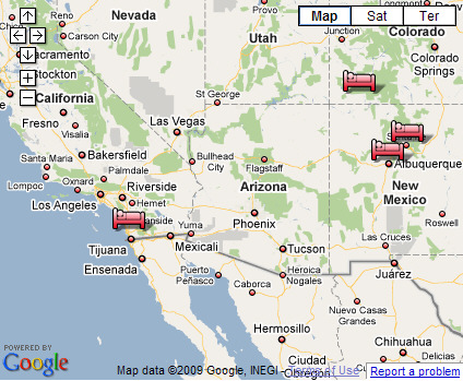 Mikes Trip Reports Southwest US Vacation - Southwest us map
